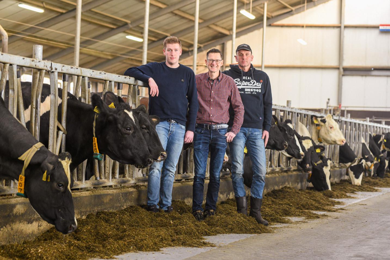 Jeroen Los (midden), Jan (rechts) en Marc (links) Dijkhuizen